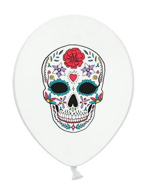 6 gab, Baloni Mirušo diena, balts, 30 cm