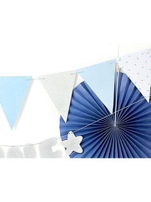 Virtene - 8 karodziņi, zila, 1.3 m