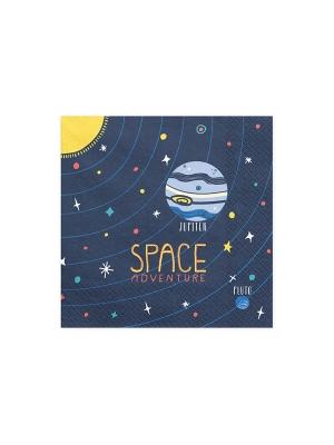 20 gab, Salvetes Kosmosa ballīte, tumši zilas, 33 x 33 cm