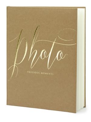 22 lpp, Foto albums, kraft papīrs ar zeltu, 20 x 24.5 cm