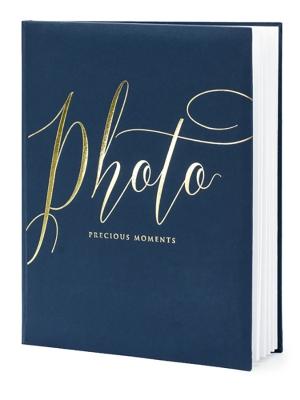 22 lpp, Foto albums, tumsi zils ar zeltu, 20 x 24.5 cm