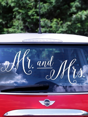 Auto uzlīme kāzu dienai, 12 - 31 cm