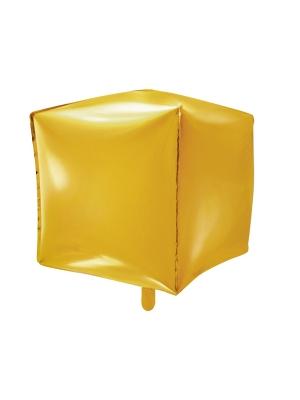 Kubs, zelta, 35 x 35 x 35 cm