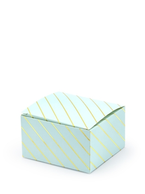 10 gab, Kastītes, gaiši zilas ar zeltu, 6 x 3.5 x 5.5 cm