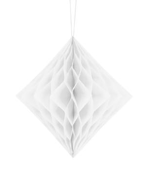 Papīra Dimants, balts, 20 cm