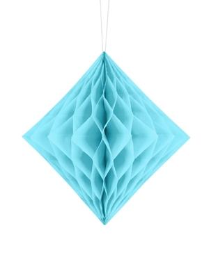 Papīra Dimants, gaiši zils, 20 cm
