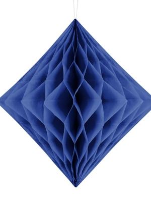 Papīra Dimants, tumši zils, 30 cm
