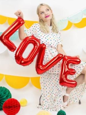 Folijas balons  Love, sarkans, 140 x 35 cm