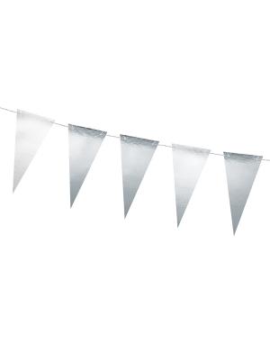 Virtene Jaungada vakars - 14 karodziņi, sudraba, 13 cm x 2.15 m