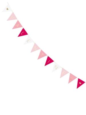 Virtene Valentines - 12 karodziņi, 18 cm x 2.10 m