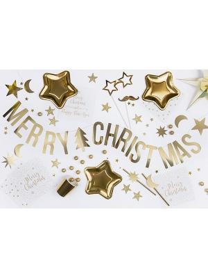 Baneris Priecīgus Ziemassvētkus, zelta, 10.5 x 150 cm