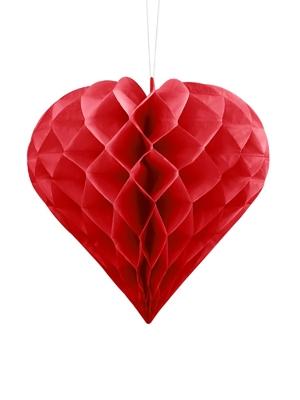 Papīra Sirds, sarkana, 20 cm