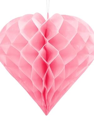 Papīra Sirds, gaiši rozā, 30 cm