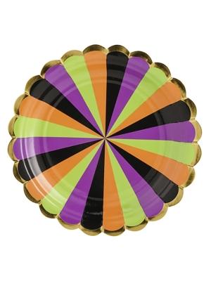 6 gab, Papīra šķīvīši Fokuss Pokuss, krāsaini, 18 cm