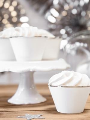 6 gab, Kūciņu ietinamais papīrs, Elegant Bliss, balts ar sudrabu, 4.8 x 7.6 x 4.6 cm