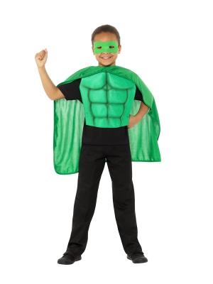 Super varoņa komplekts, zaļš
