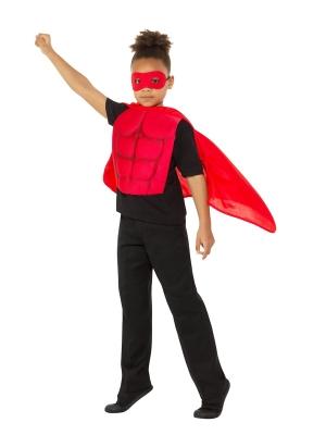 Super varoņa komplekts, sarkans