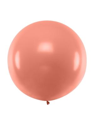 1 metra balons, rozā zelts, metālisks