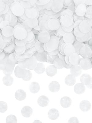 Konfeti aplīši, balti, 1.6 cm, 15 gr