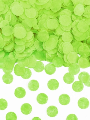 Konfeti aplīši, zaļš ābols, 1.6 cm, 15 gr