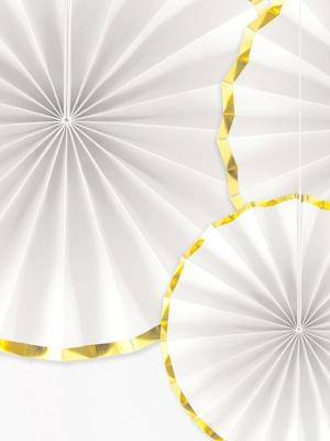 3 gab, Dekoratīvās rozetes, baltas, 23, 32, 40 cm