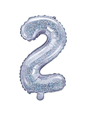 Folijas balons, 2, hologrāfisks, 35 cm