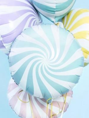 Apaļa konfekte, balta ar gaiši zilo, 45 cm