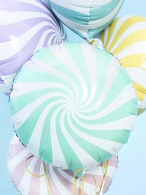 Apaļa konfekte, balta ar piparmētru, 45 cm