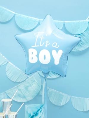Zvaigzne - It`s a boy, gaiši zila, 48 cm