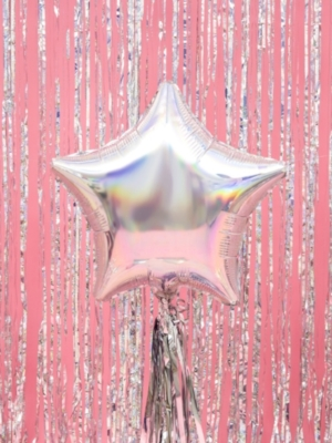 Zvaigzne, varavīksnes krāsas, 48 cm