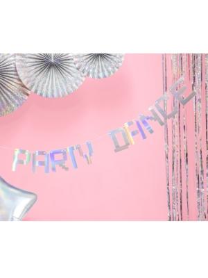 Baneris Party Dance, varavīksnes krāsas, 9.5 x 130 cm