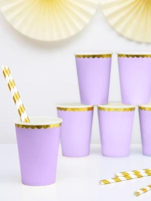 6 gab, glazītes, gaiši violetas ar zeltu, 220 ml