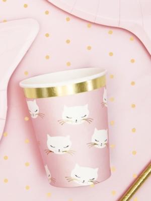 6 gab, glazītes - Kaķis, gaiši rozā, 200 ml