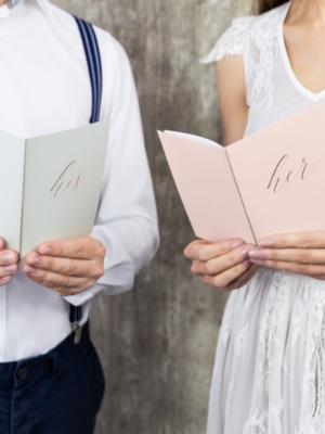 2 gab, Zvērestu grāmatas, rozā un balta, 15 x 11 cm