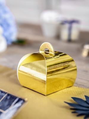 10 gab, Kastītes, zelta, 6 x 6 x 5.5 cm