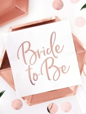 20 gab, Salvetes Topoša līgava, baltas ar rozā zeltu, 33 x 33 cm