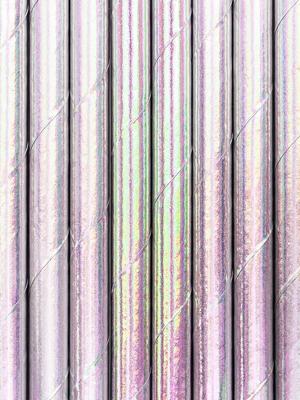 10 gab, Papīra salmiņi, varavīksnes krāsās, 19.5 cm