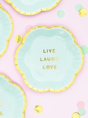 6 gab, Mini šķīvīši - Live Laugh Love, 13 cm