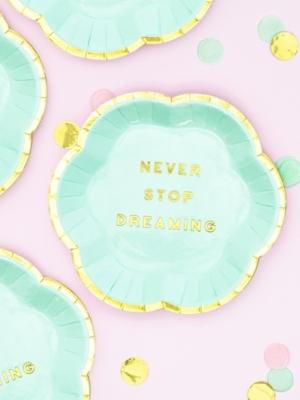 6 gab, Mini šķīvīši - Never Stop Dreaming, 13 cm