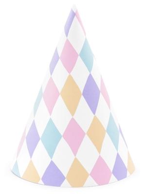 6 gab, Papīra cepures Vienradzis, 10 х 16 cm