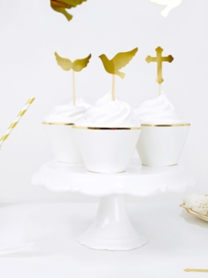 6 gab, Iesmiņi kristībām, zelta, 8.5-11 cm