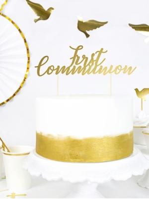 Tortes iesmiņš, Kristības, zelta, 21 cm