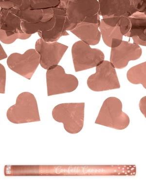 Plaukšķene ar sirdīm, rozā zelts, 60 cm