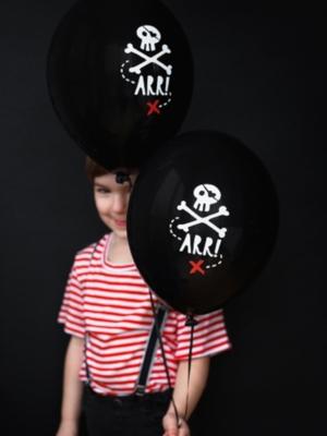 Balons Pirātu ballīte, melns, 30 cm