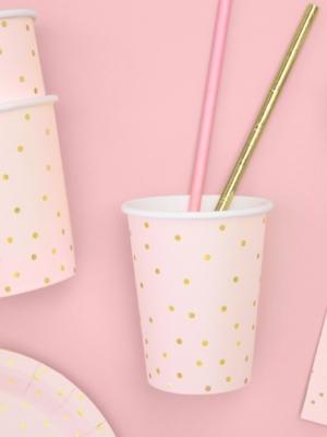 6 gab, Glazītes ar punktiņiem, gaiši rozā, 260 ml