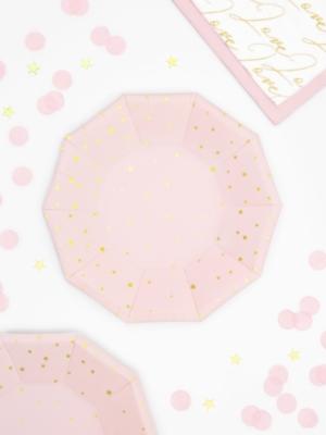 6 gab, Šķīvīši ar zvaigznēm, gaiši rozā, 18 cm