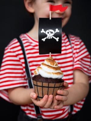 6 gab, Kūciņu komplekts - Pirates Party, 4.8 x 7.6 x 4.6 cm
