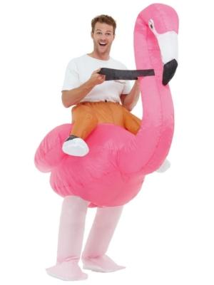 Uzpūšamais flamingo kostīms