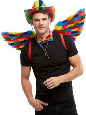 Spārni varavīksnes krāsās, 80 cm