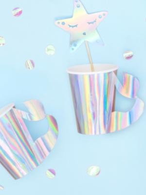 6 gab, Glāzītes ar asti, varavīksnes krāsās, 220 ml